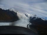 氷河に向かって一直線!