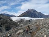 ルート氷河とケニコット氷河の合流点まで。