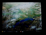 シアトルからのNW機、アラスカ上空を通過中...